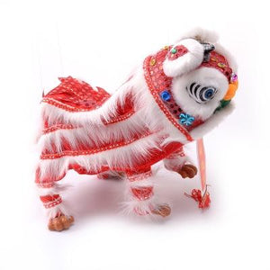 Lion Dance Marionette Puppet - Red/White
