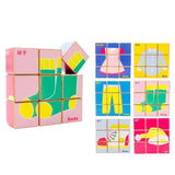 Chinese Bilingual 6 in 1 Wooden Cube Puzzles - Everyday Items