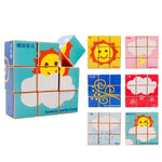 Chinese Bilingual 6 in 1 Wooden Cube Puzzles - Weather