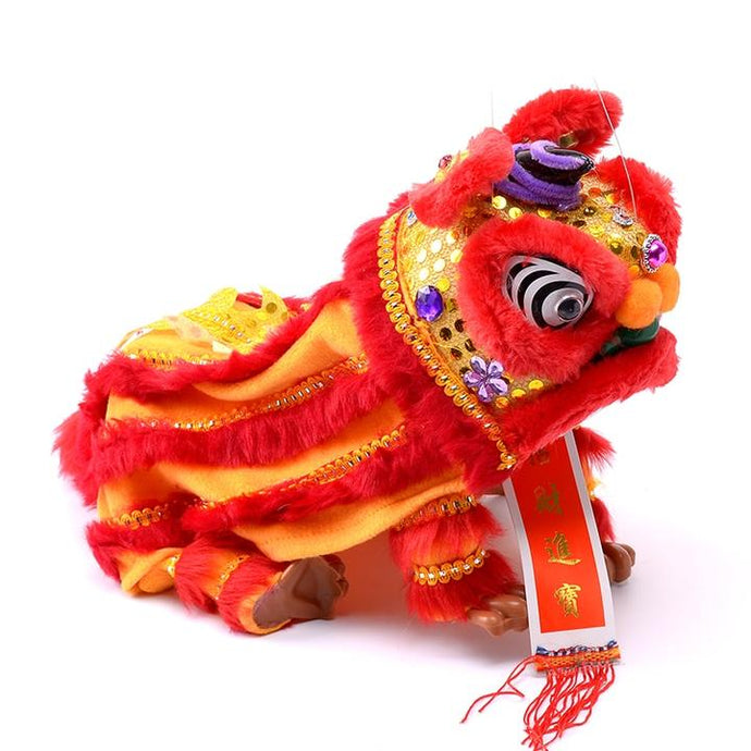 Lion Dance Marionette Puppet - Red