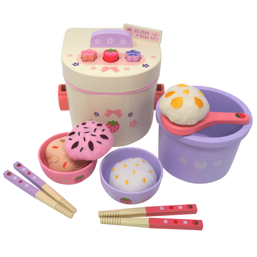 Rice Cooker Deluxe Wooden Play Food Set