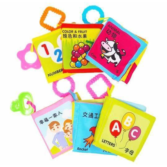 Chinese Bilingual Soft Crinkle Baby Book Set (6 Books)