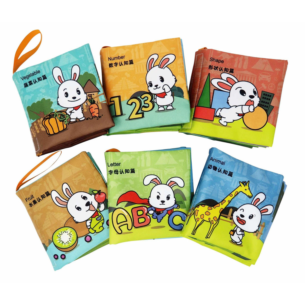 Crinkle & Squeaking Baby Basics Chinese Bilingual Soft Baby Book Set (6 Books)