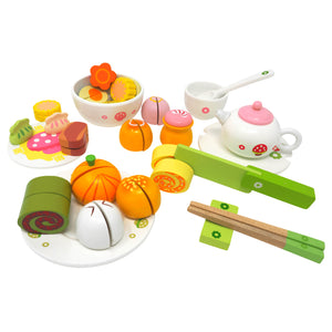 Breakfast Wooden Deluxe Tea Set