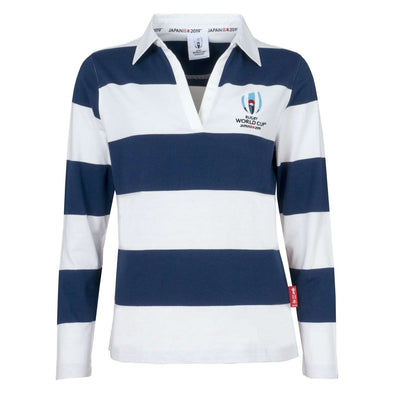 Womens Long Sleeve Stripe Rugby