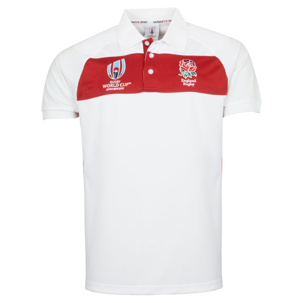 RWC 2019 England Rugby Centre Polo - White