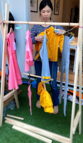 Lily & Lord DIY clothing rack pop-up store