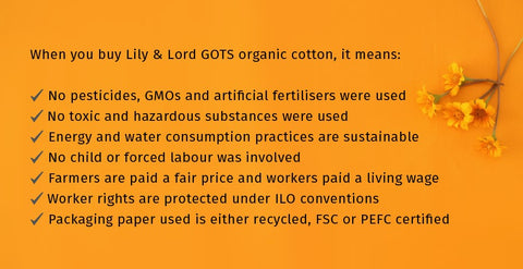 Buying Lily & Lord organic cotton