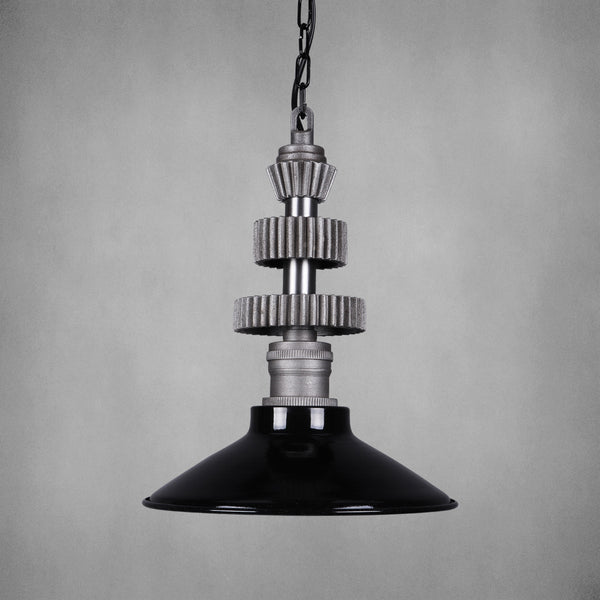 Vintage Industrial Light with Gears