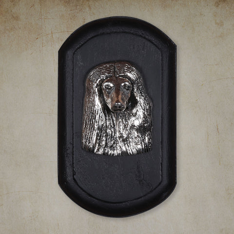"Vintage Wall Decor ""Afghan Hound"" Dog Face"