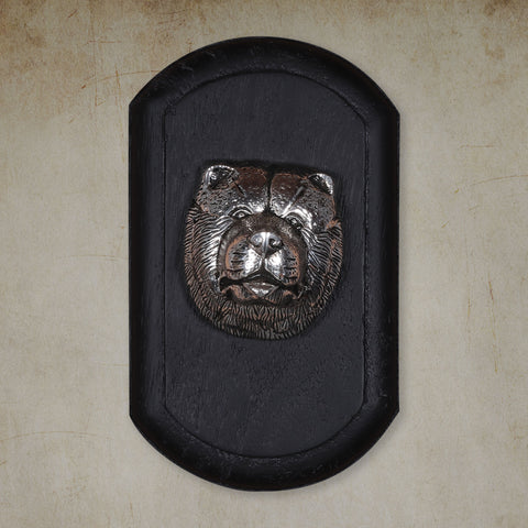 "Vintage Wall Decor ""Chow Chow"" Dog Face"