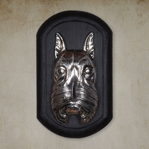 "Vintage Wall Decor ""Schnauzer"" Dog Face"