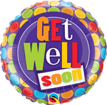 "18"" FOIL - GET WELL SOON - PATTERNS-18 INCH FOIL-Partica Party"