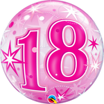 "22"" BUBBLE - 18 - PINK STARBURST SPARKLE-BUBBLE-Partica Party"
