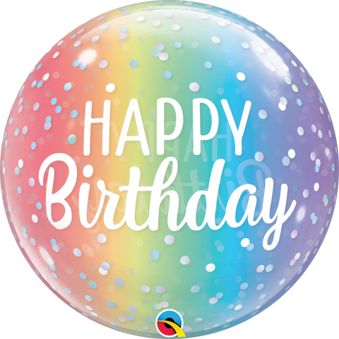 "22"" BUBBLE - HAPPY BIRTHDAY - OMBRE & DOTS-BUBBLE-Partica Party"