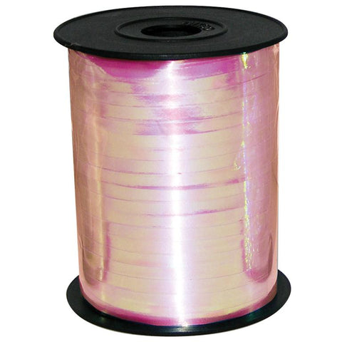BALLOON RIBBON SPOOL - IRIDESCENT PINK-RIBBON-Partica Party