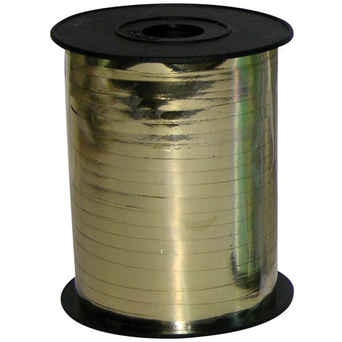 BALLOON RIBBON SPOOL - METALLIC GOLD-RIBBON-Partica Party