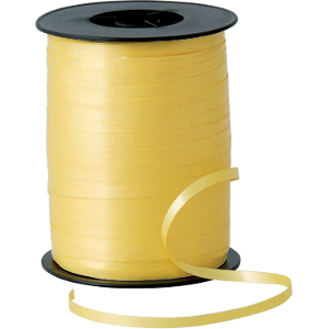 BALLOON RIBBON SPOOL - SUNSHINE YELLOW-RIBBON-Partica Party