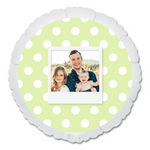 "CUSTOM 22"" PHOTO BALLOON - GREEN DOTS PHOTO FRAME-PHOTO BALLOON-Partica Party"