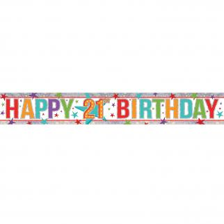 HAPPY BIRTHDAY BANNER - 21ST BIRTHDAY-BANNER-Partica Party