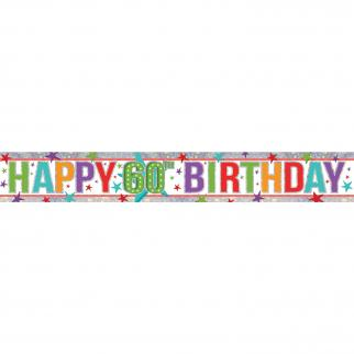 HAPPY BIRTHDAY BANNER - 60TH BIRTHDAY-BANNER-Partica Party