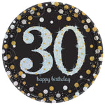 PAPER PLATES - 30 GOLD - PACK OF 8-PLATES-Partica Party
