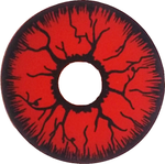 RED RAGE MINI SCLERA 17MM-HALLOWEEN LENS-Partica Party