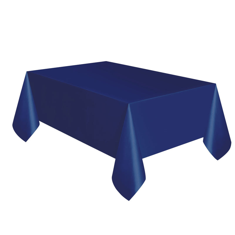 TABLECOVER - TRUE NAVY BLUE - PLASTIC RECTANGLE-Tablecover-Partica Party