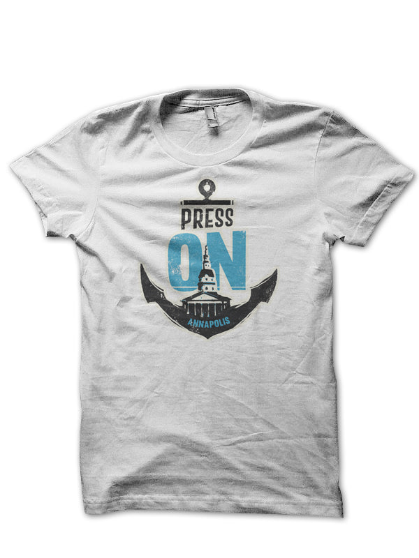 PRESS ON Annapolis • T-shirt (white)