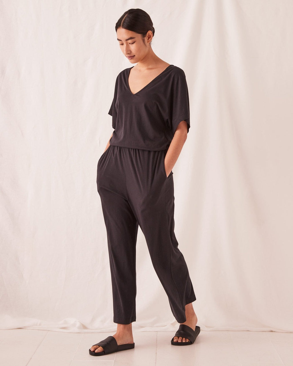 Lounge Jumpsuit - Black