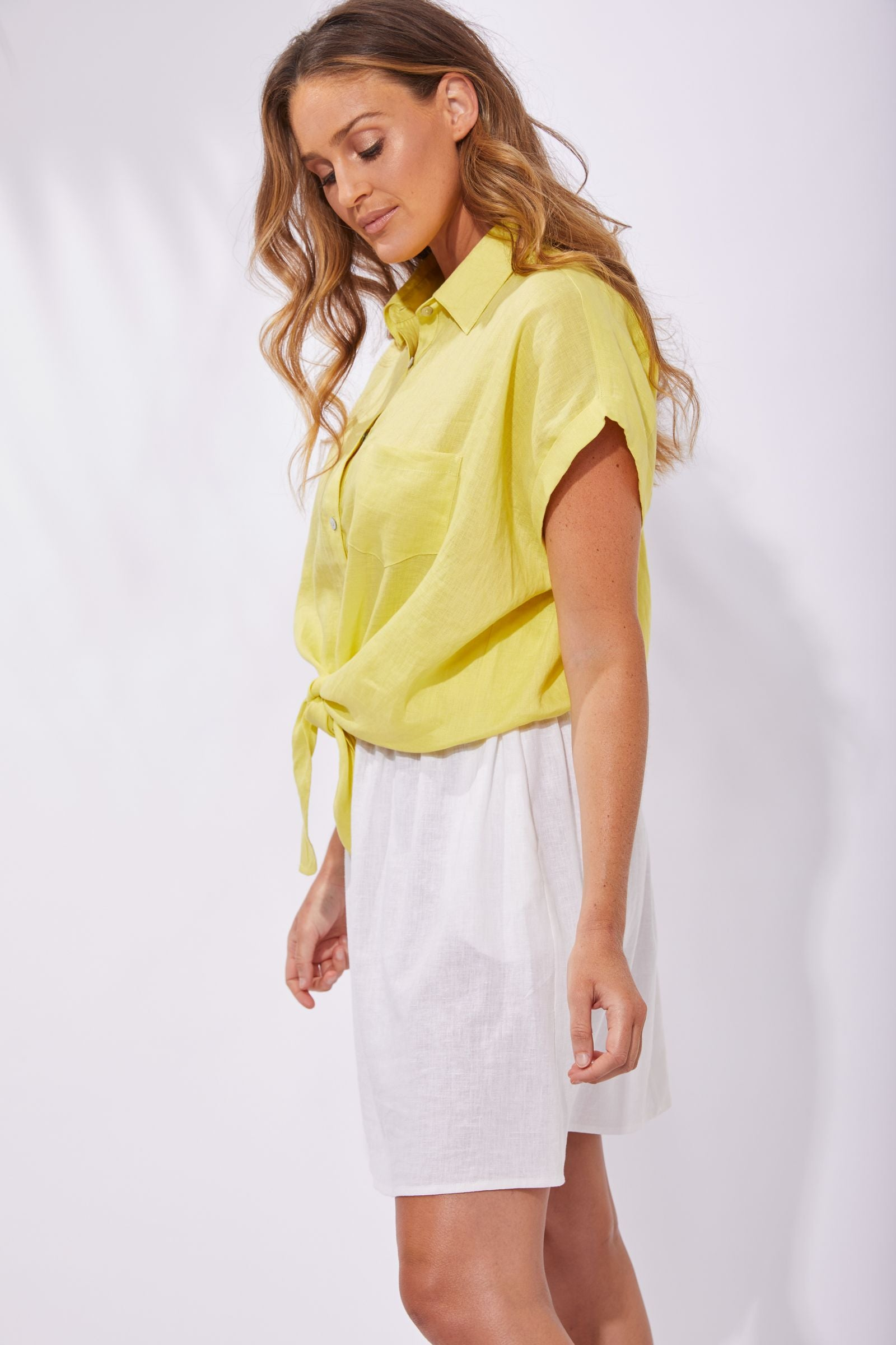 Palma Shirt- Lemon