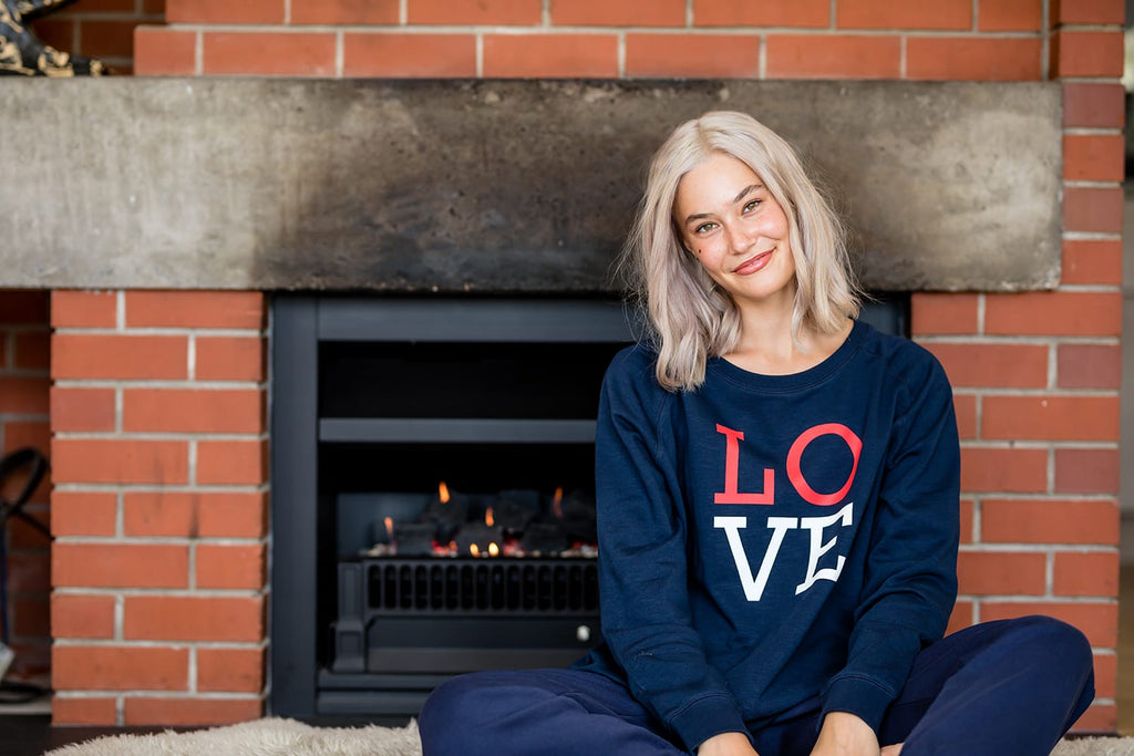 Classic Blue Love Sweater
