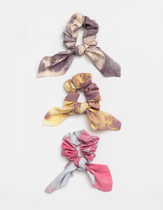 Tie Scrunchies Set of 3 Dip Dye