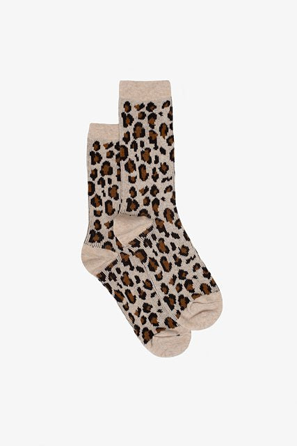 Winter Leopard Sock