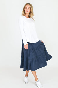 Piper Skirt- Indigo