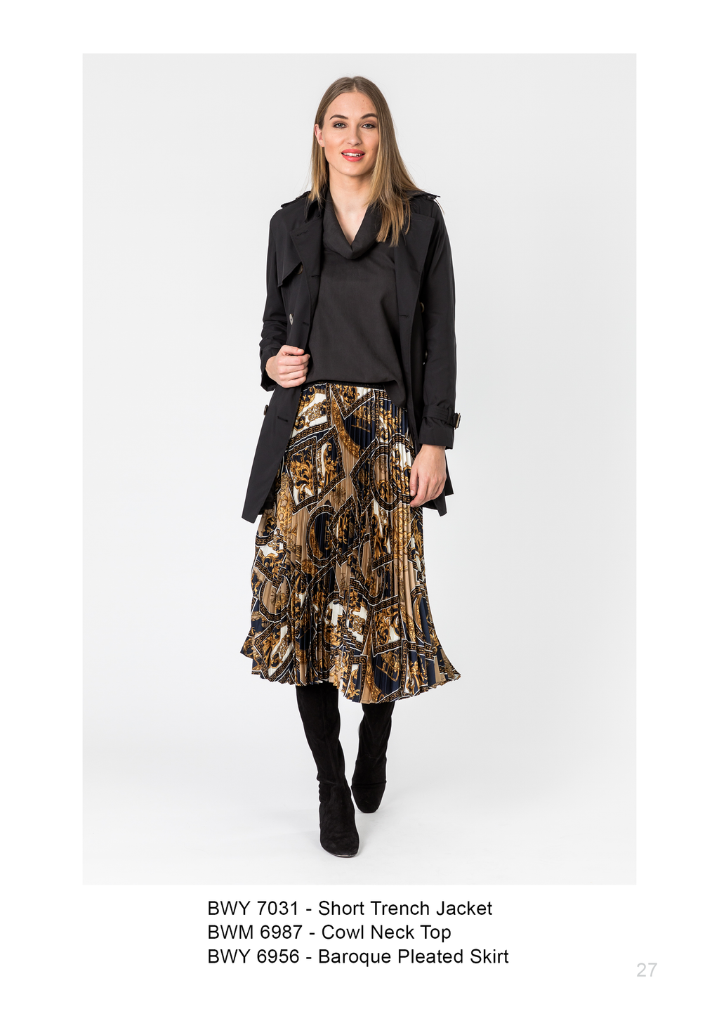 Pleated Baroque Skirt