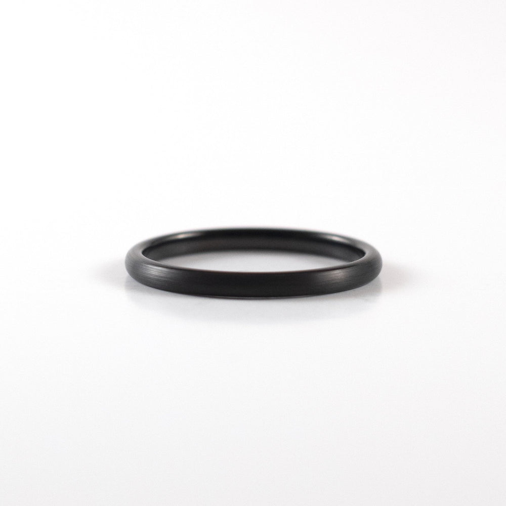 Tungsten Carbide Ring - Black Band - 2mm