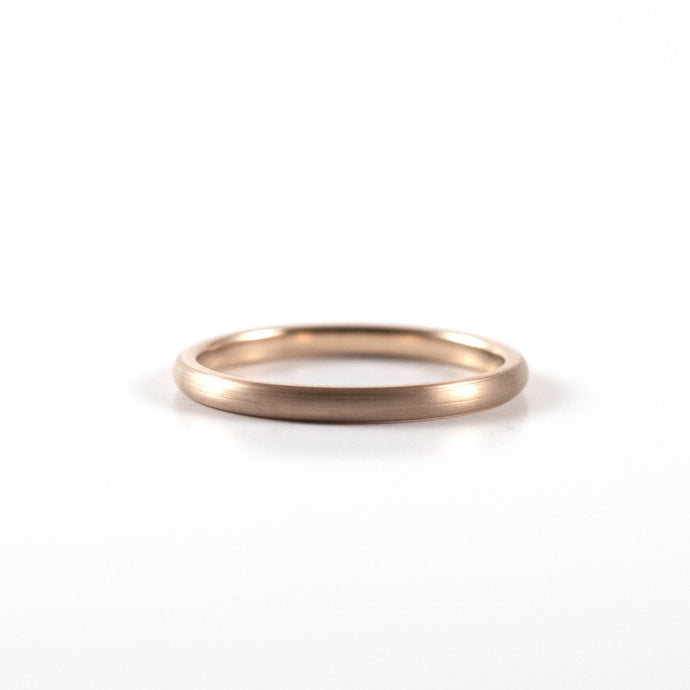 Tungsten Carbide Ring - Rose Gold Band - 2mm