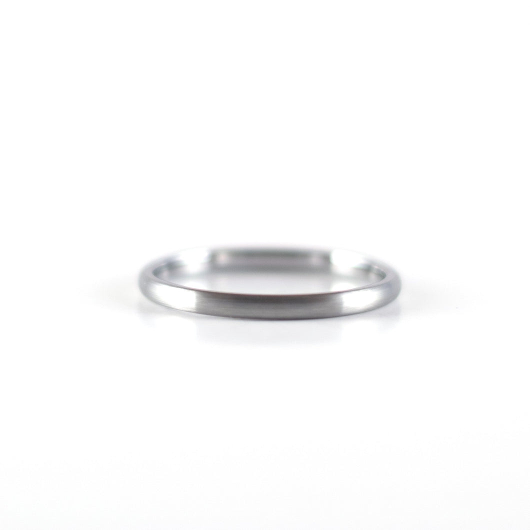 Tungsten Carbide Ring - Silver Band - 2mm