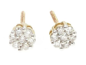 10K Yellow Gold Diamond Flower Earrings 65275 0.20ct