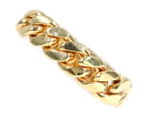 10k Gold 7mm Miami Cuban Link Ring 44393