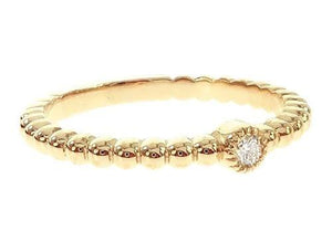 Jesse's Favorite: 14K Yellow Gold Bazel Ring 65699 0.05ct