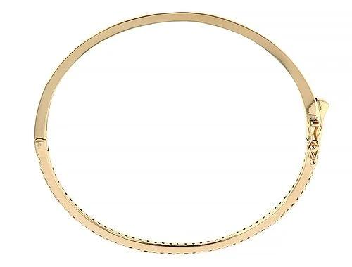 14K Yellow Gold Diamond Bangle Bracelet 65659 0.94ct