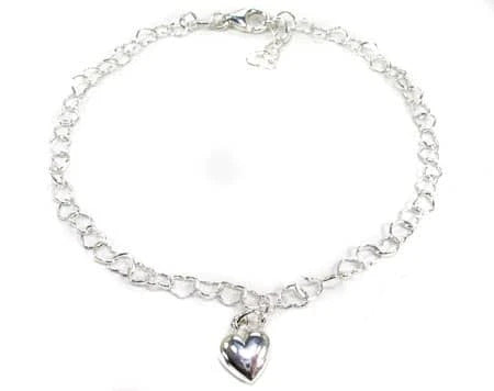 Ladies Silver Heart Bracelet 19606