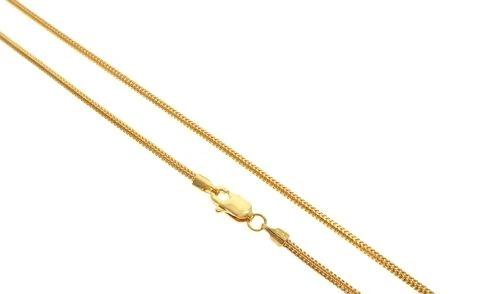 22K Yellow Gold Franco Link Chain 18 Inches 1.7mm 8.5 Grams 63590