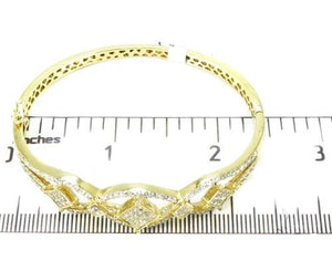 Prong Diamond Bangle Bracelet 2.08ct