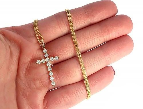 YG Enzo Diamond Cross Necklace 65314 0.98ct