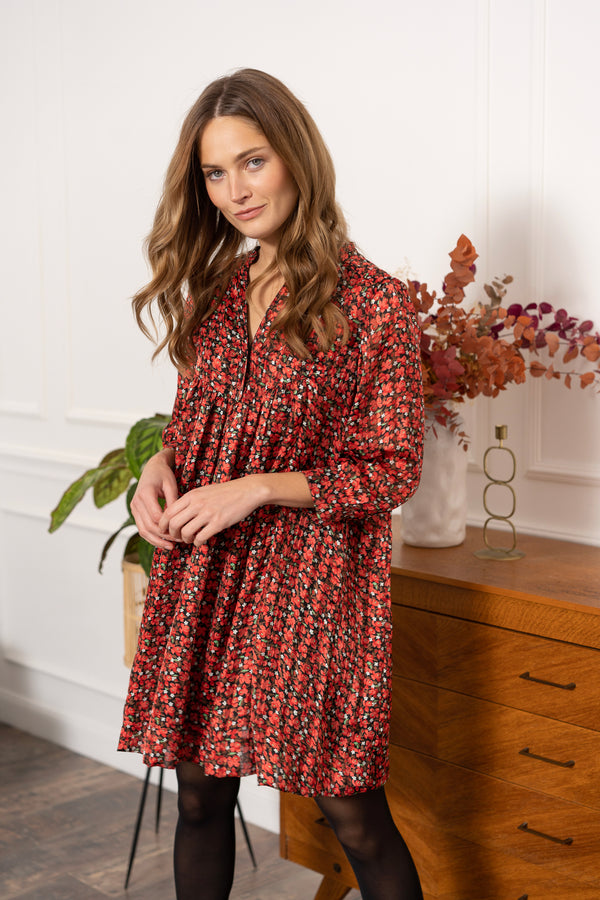 Robe liberty rouge - Arline