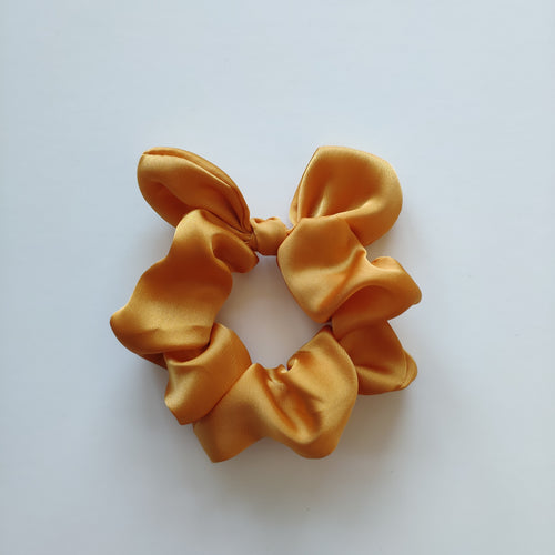 Bow Style Satin Scrunchies