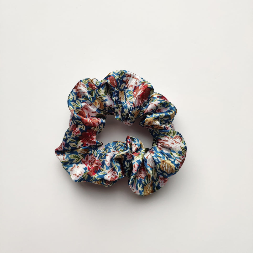 Floral Satin Scrunchies